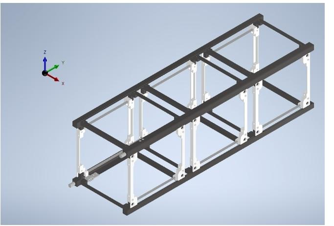 Figure 4. Structural frame of ODIN.