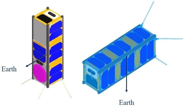 Figure 5. Non-deployed solar panel model of ODIN.