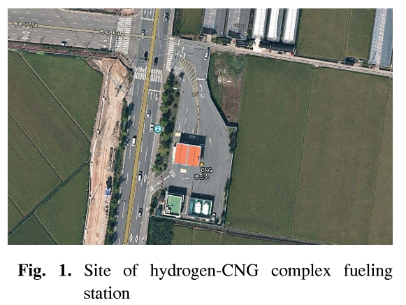 Fig. 1. Site of hydrogen-CNG complex fueling station