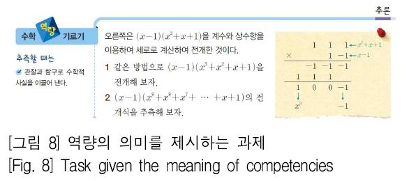 [그림 8] 역량의 의미를 제시하는 과제 [Fig. 8] Task given the meaning of competencies