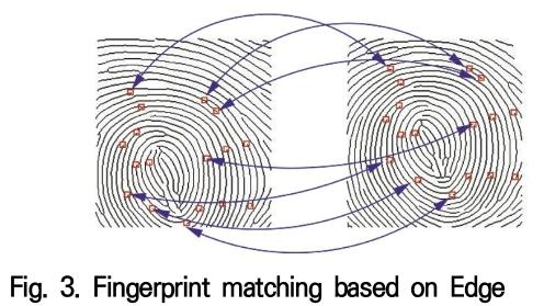 Fig. 3. Fingerprint matching based on Edge