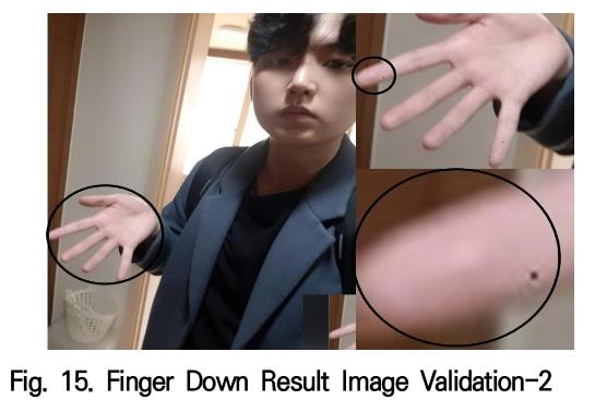 Fig. 15. Finger Down Result Image Validation-2