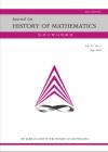 한국수학사학회지 = The Korean journal for history of mathematics
